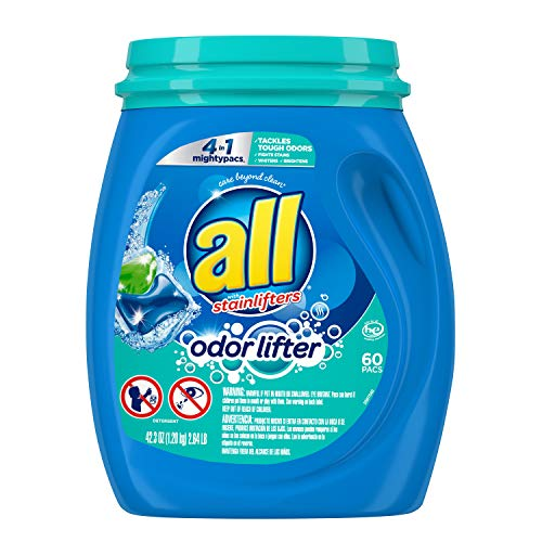 60-Ct All Mighty Pacs 4-in-1 Laundry Detergent w/ Odor Lifter  $7.04 at Amazon