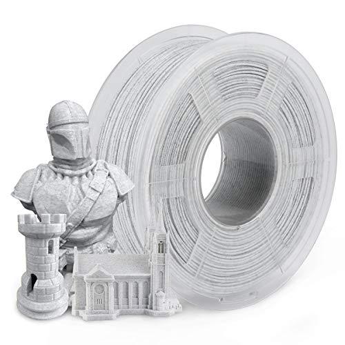 Filamento PLA de mármol 1,75 mm, SUNLU Filamento de impresora 3D PLA Mármol 1 KG 2.2LBS Carrete, 1,75 +/- 0,02 mm