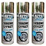 AutoExtreme Spray de Pintura para Interior y Exterior con Efecto de Espejo Cromado de 400...
