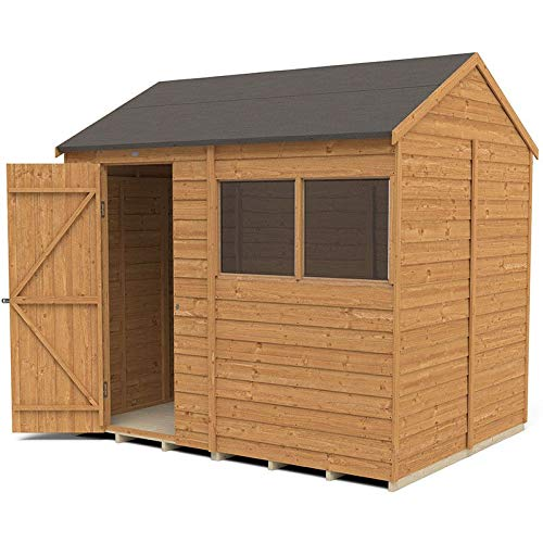 Forest Garden Overlap Dip Treated 8 x 6, Reverse Apex Shed