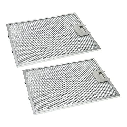 vhbw 2x Filtri Anti-Grasso Permanente compatibile con Neff D99S2N0GB/01, D99S2N1/01, D99S4N0/01, D99S4S0/01, D99S4W0/01 Cappa da Cucina, metallo
