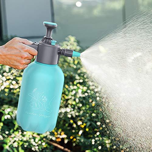 Taixinpower 2 Liter Multifunction Hand Pressure Garden Sprayer Water Pump Pressure Sprayers Home Cleaning Spray Bottle with Adjustable Nozzle, Blant Lawn Mist Sprayer (Blue)