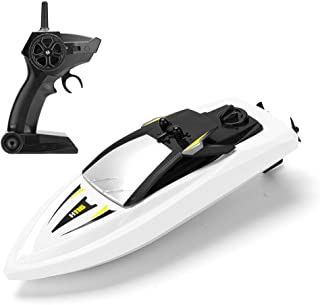 RC Boat Remote Control Boats for Pools and Lakes, ROTOBAND 2.4GHz 14km/h High Speed Boat Toys for Kids Adults Boys Girls (White)