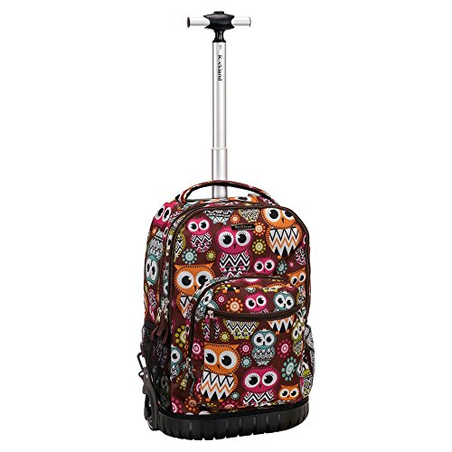 Rockland Luggage 19 Inch Rolling Backpack Printed, Owl