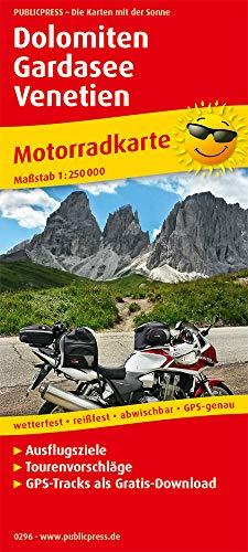 Dolomiten - Gardasee - Venetien 1:250 000: Motorradkarte mit Ausflugszielen und Freizeittipps, wetterfest, reissfest, abwischbar, GPS-genau. Mit Tourenvorschlägen