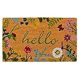 Calloway Mills AZ105991729 Floral Hello Doormat, 17' x 29', Multicolor
