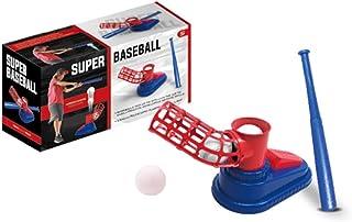 Anjetan Kids Baseball Toy Set Educational Funny Baseball Pitching Machine with Tee Ball & Ball Bat Baseball Toys for Kids