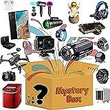 JEDNF Caja de Misterio, Caja de Misterio, Caja de Misterio electrónico Incluye Drones, Gamepads, Auriculares Bluetooth, Drones, Robots de Barrido, Luces de proyector Starr Red