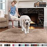 Gorilla Grip Original Faux-Chinchilla Area Rug, 5x7 Feet, Super Soft and Cozy High Pile Washable Carpet,...