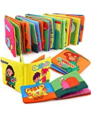 Mumoo Bear 6 Pcs CLOTH BOOK Baby Soft Books for 1-36 month Educational Toy for Boy & Girl, Touch and Feel activity Washable Fabric