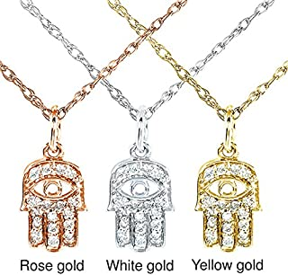 Kobelli Mini Diamond Accented Hamsa