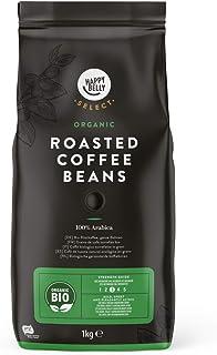 Marca Amazon - Happy Belly Select Café de Tueste Natural Ecológico en Grano - 2Kg (2 Paquetes x 1kg)