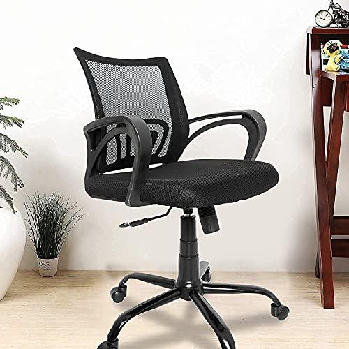 CELLBELL® C107 Medium-Back Mesh Office Chair [Black]