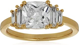 Buckley London Women Staggered Baguette Ring L
