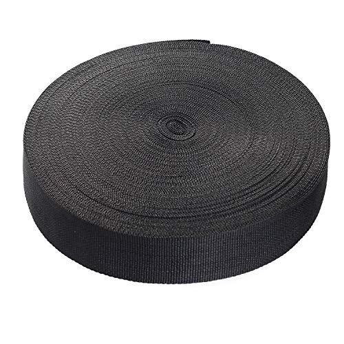 50 Meter x 50mm PP Gurtband - 1,4mm Stark - Gurtband aus Polypropylen - 50 Meter Länge und 50 mm Breite, Schwarz, TKB5072-black