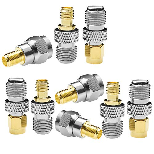 F-Type to SMA Male Female 3 Sets 9 Pcs RF Coaxial Coax Adapter Connector SMA to F-Type SMA Male to F Female F Female to SMA Female