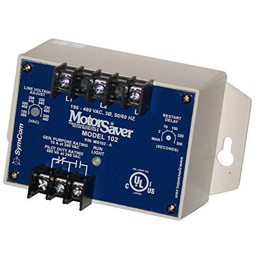 LITTELFUSE 102A 240VAC Switching, Phase Monitoring Relay, 190-480VAC Range, Flange Mount, 10AMP, SPDT