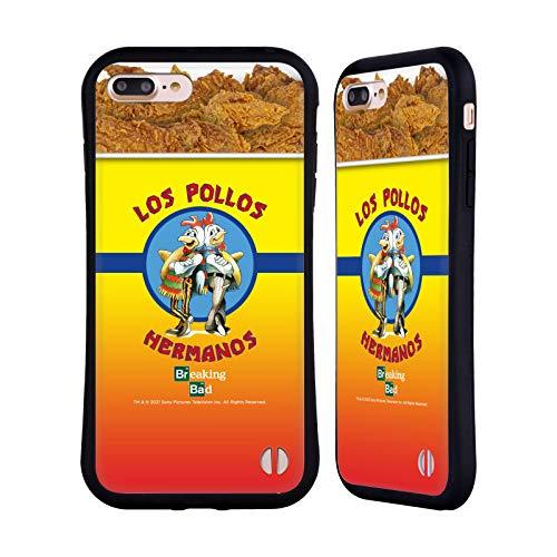 Head Case Designs Licenza Ufficiale Breaking Bad Los Pollos Hermanos Secchio di Pollo Iconico Cover Ibrida Compatibile con Apple iPhone 7 Plus/iPhone 8 Plus