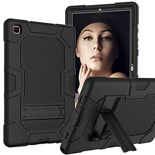 Neecio Custodia Samsung Galaxy Tab A7 da 10,4 Pollici, Custodia Ibrida a Tre Strati con Supporto per Samsung Galaxy Tab A7 10.4 (T500 / T505 / T507) 2020 (Black)