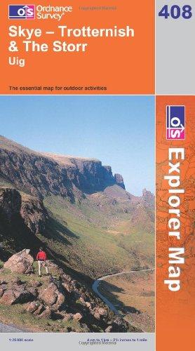 OS Explorer map 408 : Skye - Trotternish & The Storr