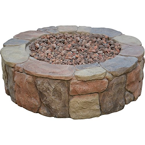 Propane Gas Stone Fire Pit by Bond Mfg