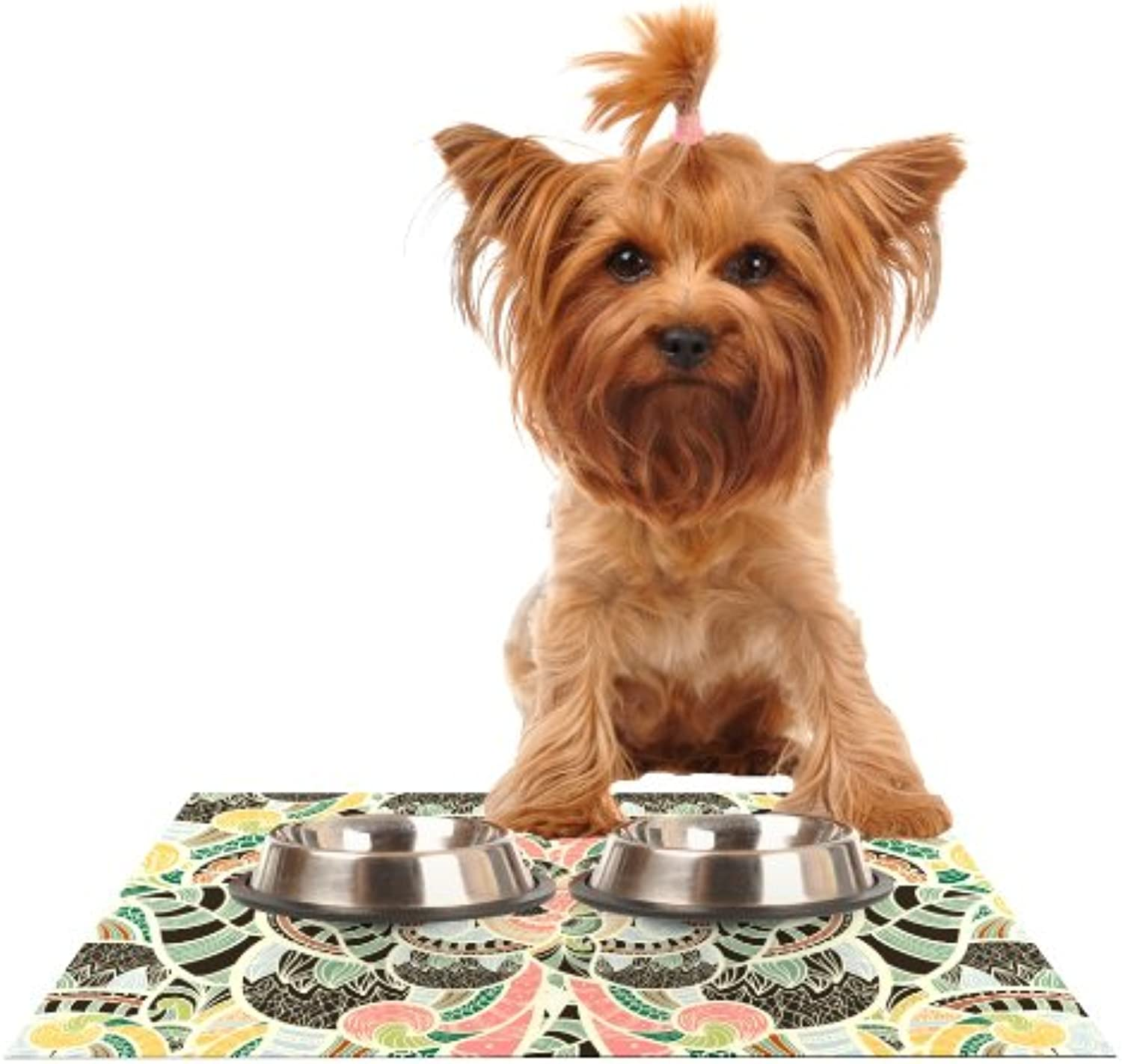 Kess InHouse Danny Ivan Too Much  Feeding Mat for Pet Bowl, 24 by 15Inch