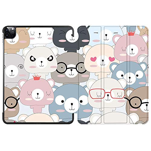 SDH Smart Cover for iPad Pro 12.9-inch Case 2020 4th Gen, Leather Folio Stand Protective Shell with Auto Sleep/Wake Compatible with Apple iPad 12.9' 2020 A2229 / A2233,Cute Anime 6