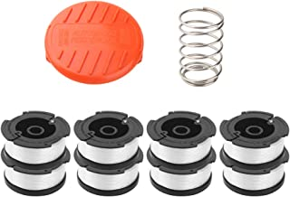 Wolfish 9 Pack WeedEaterSpoolSpool Replacement for Black+Decker AF-100 String Trimmers,30ft 0.065