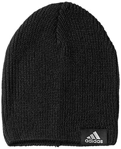 adidas PERF Beanie Hat, Black/Black/Medium Grey Heather, OSFM