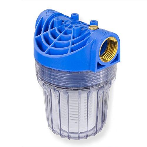 Stabilo-Sanitaer Wasserfilter DN25 1 Zoll kurz 1800L/Std Vorfilter Pumpenfilter Gartenpumpe Hauswasserwerk Hausanschluss für Wasserleitung Zisterne