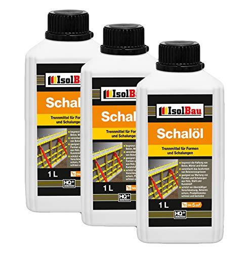3 Liter Schalöl Professional Schaloel Trennmittel Betontrennmittel Schalungsöl Trennmittel für Formen und Schalungen Holz Metall Matrizenschalungen Mischerschutz
