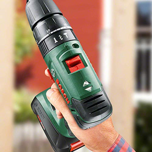 Bosch Home and Garden 06039A3301 Perceuse-visseuse à percussion PSB 1800 LI-2, 2 batteries 18V 1,5Ah, Vert