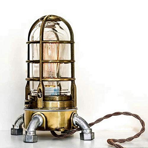 Industrial Table Lamp Nautical Cage Antique SALENEW very popular in with Light Ranking TOP18 Brass