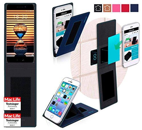 reboon Hülle für Meizu Pro 7 Plus Tasche Cover Case Bumper   Blau   Testsieger