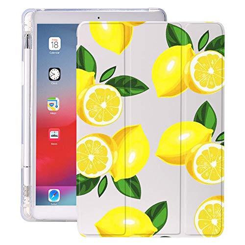 Las Hojas de limón con el Soporte de lápiz para iPad Air 3 10.5 Pro 11 2020 Air 4 10.9 2018 9.7 6º 7º Caso de la 8ª generación 10.2 2019 Mini 5 (Color : 20140, Size : 12.9 Pro 2018)