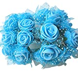 144pcs boda flores artificiales Mini espuma ramo de pétalos de rosa decoración de boda...