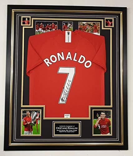 www.signedmemorabiliashop.co.uk Cristiano Ronaldo Ondertekend shirt *AFTALE DEALER CERITICATE of Authenticity *