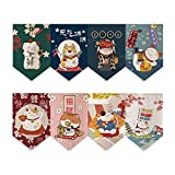 GNSN Short Doorway Canvas Curtain Japanese Lucky Cat Kitchen Triangle Flag Valance Decor (7, 23.62 x 15.75 inches)