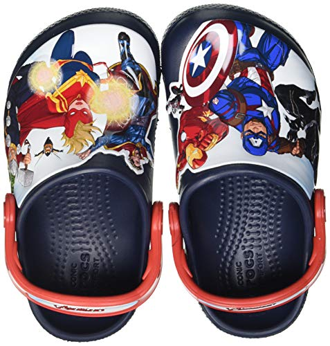 Crocs Fun Lab Avengers Patch Clog, Obstruccin Unisex niños, Navy, 34/35 EU