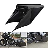 XMMT Gloss/Vivid Black Stretched Extended Side Cover Panels Compatible for 2009-2013 Harley Touring Baggers Models Street Glide Road Glide Road King Electra Glide Ultra Classic