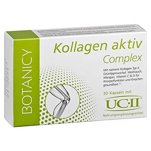 KOLLAGEN aktiv Complex mit UC-II - NEU - Kollagen + Grünlippmuschel + Weihrauch - zur Reduzierung von Entzündungen, Schmerzen, Schwellungen und Steifheit in Knochen & Gelenken* - 30 Kapseln
