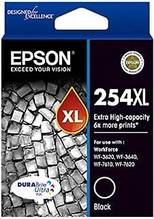 Epson EPC13T253192 252XL High Capacity Durabrite Ultra Ink Cartridge for Workforce Pro WF-3620 3640 7610 7620, Black