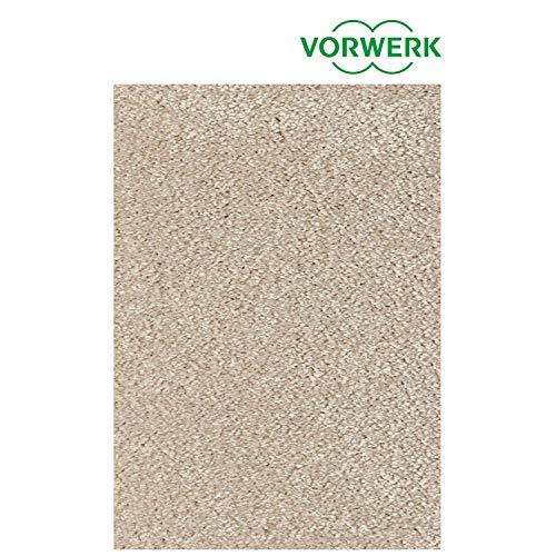 Vorwerk vlakpolig tapijt effen crème woonkamer Muster bestellen crème