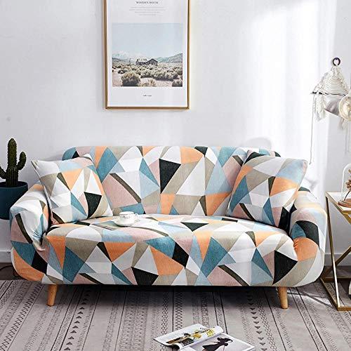 ZJXSNEH Funda de sofá Tejido Jacquard de poliéster y Elastano Fundas de sofá Suaves duraderas Coincidencia de Color Azul Naranja 90-140cm