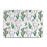 Durable Laptop Case Art Designed Protective Cover for MacBook Laptop Modern Hard Case (Cacti Llamas, 12-inch (A1534 & MLHC2))