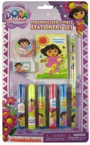Dora The Explorer Personalized Stationery Set 9-Piece Max 63% OFF Product