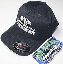 S/M Grey Flexfit Fitted Ford Powerstroke Trucker Ball Cap hat Diesel Flex fit pin Stripe