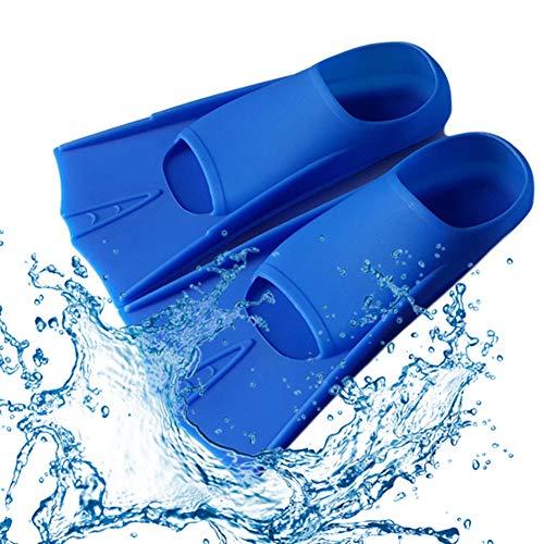 JZH-Light - Aletas de natación unisex para buceo, aletas para buceo, aletas cortas, aletas para apnea y snorkeling Swim Diving Training Pie Flipper Gel de sílice Flippers Equipamiento Mayor, S