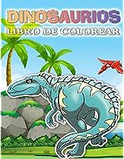 Libro de colorear de dinosaurios: Libro de colorear para niños con lindos dinosaurios para niños, niños y niñas, de 4 a 8 años (Coloring Books for Kids)