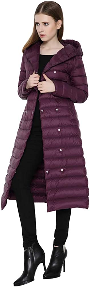 Wicky LS Women's Long Lightweight 35% Ranking TOP6 OFF Thin Hood with Doubl Down Coat